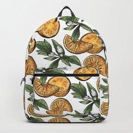Hand Drawn Orange Fruit Pattern Backpack
