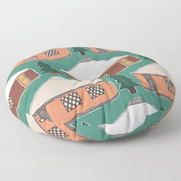 Cozy Yurts -n- Pines Floor Pillow