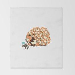 Hedge Hog Throw Blanket