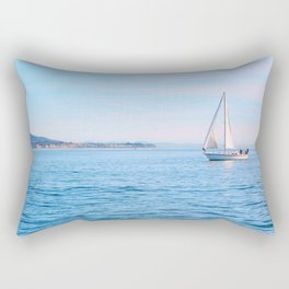 Blue Sailing Rectangular Pillow