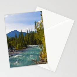 Maligne River & Pyramid Mountain in Jasper National Park, Canada Stationery Cards