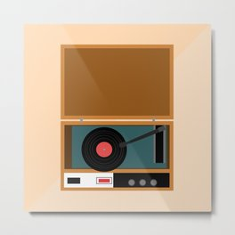 Record Player Metal Print