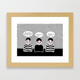 we gotta go Framed Art Print