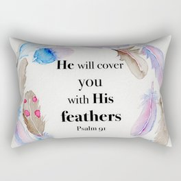 Psalm 91 Feathers Rectangular Pillow