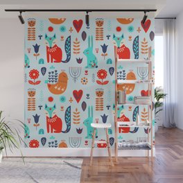 forest cute animals Wall Mural