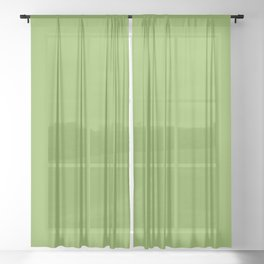 Green Apple - Solid Color Collection Sheer Curtain
