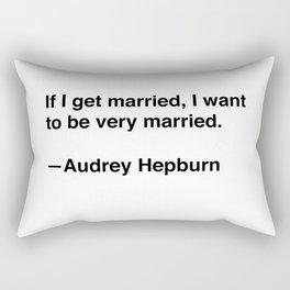 Audrey Hepburn on Marriage Rectangular Pillow
