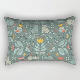Swedish Folk Cats Rectangular Pillow