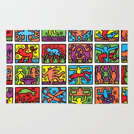 Keith Haring - Retrospect, 1989 (hand signed) RARE Rug