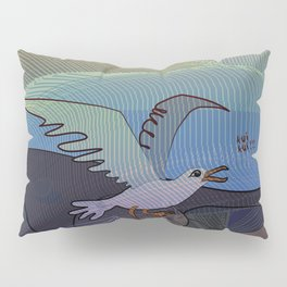 Trapped Seagull  - Clean the Beach Pillow Sham