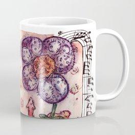 Man Music Flower Coffee Mug
