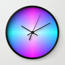 Purple, Pink, Blue and White Ombre flame pattern Wall Clock