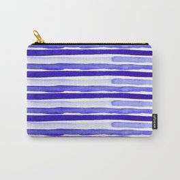 Ultra Violet Watercolour Stripes Carry-All Pouch