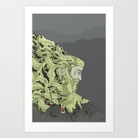 kodama Art Prints featuring KODAMA by Ron Gervais