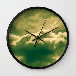 A slice of cake and a cup of tea. Wall Clock