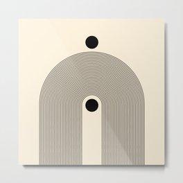 Abstraction_SUN_LINE_RAIN_POP_ART_Minimalism_001R Metal Print