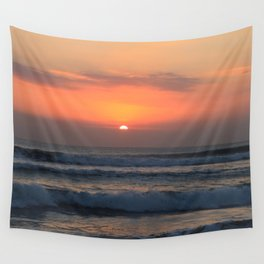 Tropical sunset Wall Tapestry