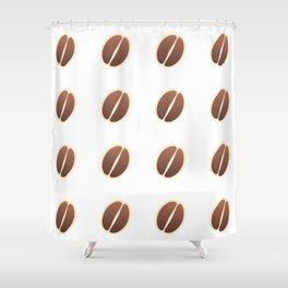 Tasty coffee seamless pattern Shower Curtain