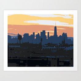 NYC Sunset Tones Art Print