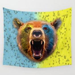 Warrior bear. Wall Tapestry