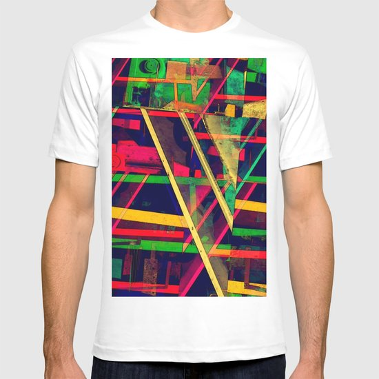 Industrial Abstract Green T-shirt