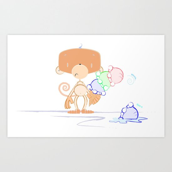 Whistle and Splat Art Print
