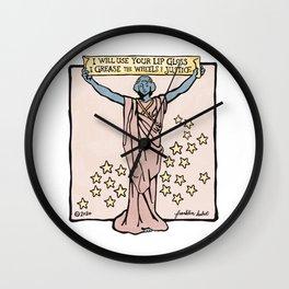 Lip Gloss Manifesto Wall Clock