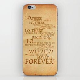 Viking Prayer iPhone Skin