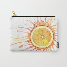 Splash Orange Slice Watercolor Painting Carry-All Pouch