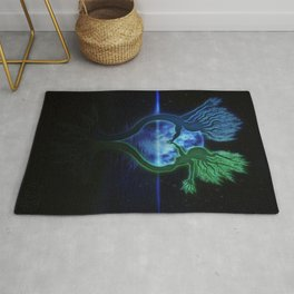 Moondance Moonrise Twilight Dancing Trees Rug