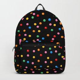 Rainbow Gumballs Black Backpack