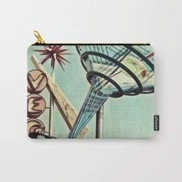 Oscar's Martini Neon Sign Old Vegas Carry-All Pouch