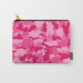 Army Camouflage Pink Pattern Background Carry-All Pouch