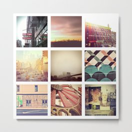 New York Scenes Metal Print