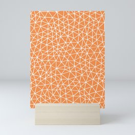 Connectivity - White on Orange Mini Art Print