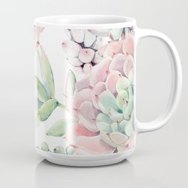 Pink Succulents by Nature Magick Coffee Mug