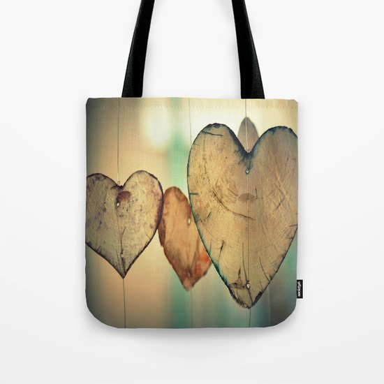 Vintage Boho Chic Bokeh Hearts Wind Chimes Tote Bag