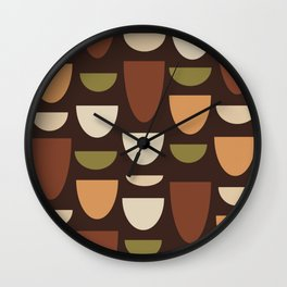 Brown & Orange Bowls Wall Clock