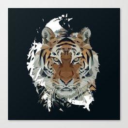Tiger Low Poly Digital Art Print Canvas Print