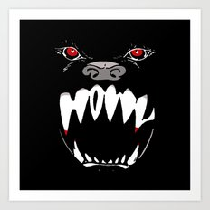 Howl - dark apparel variant Art Print