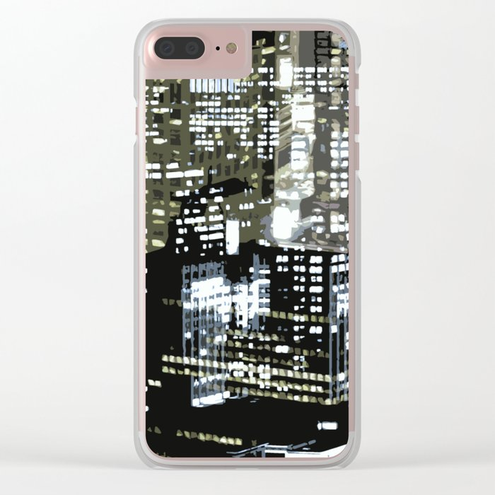 Night City 1 Clear iPhone Case
