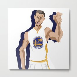 Golden State Stepen Curry Metal Print