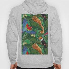 Rainforest Animals Botanical Repeat 2 Hoody