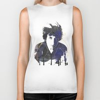 dylan Biker Tanks featuring bob dylan by manish mansinh