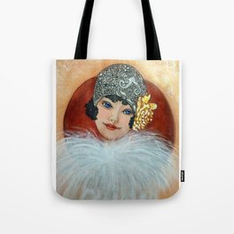 Clara, a Lady with a fancy hat Tote Bag