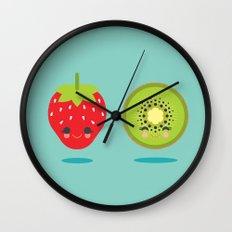 Strawberry Kiwi Wall Clock