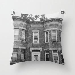 61st Street Throw Pillow