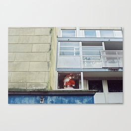 Santa window Canvas Print
