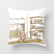 Two Buildings Throw Pillow