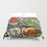 gnome Duvet Covers featuring Gnome by Steven Suiter